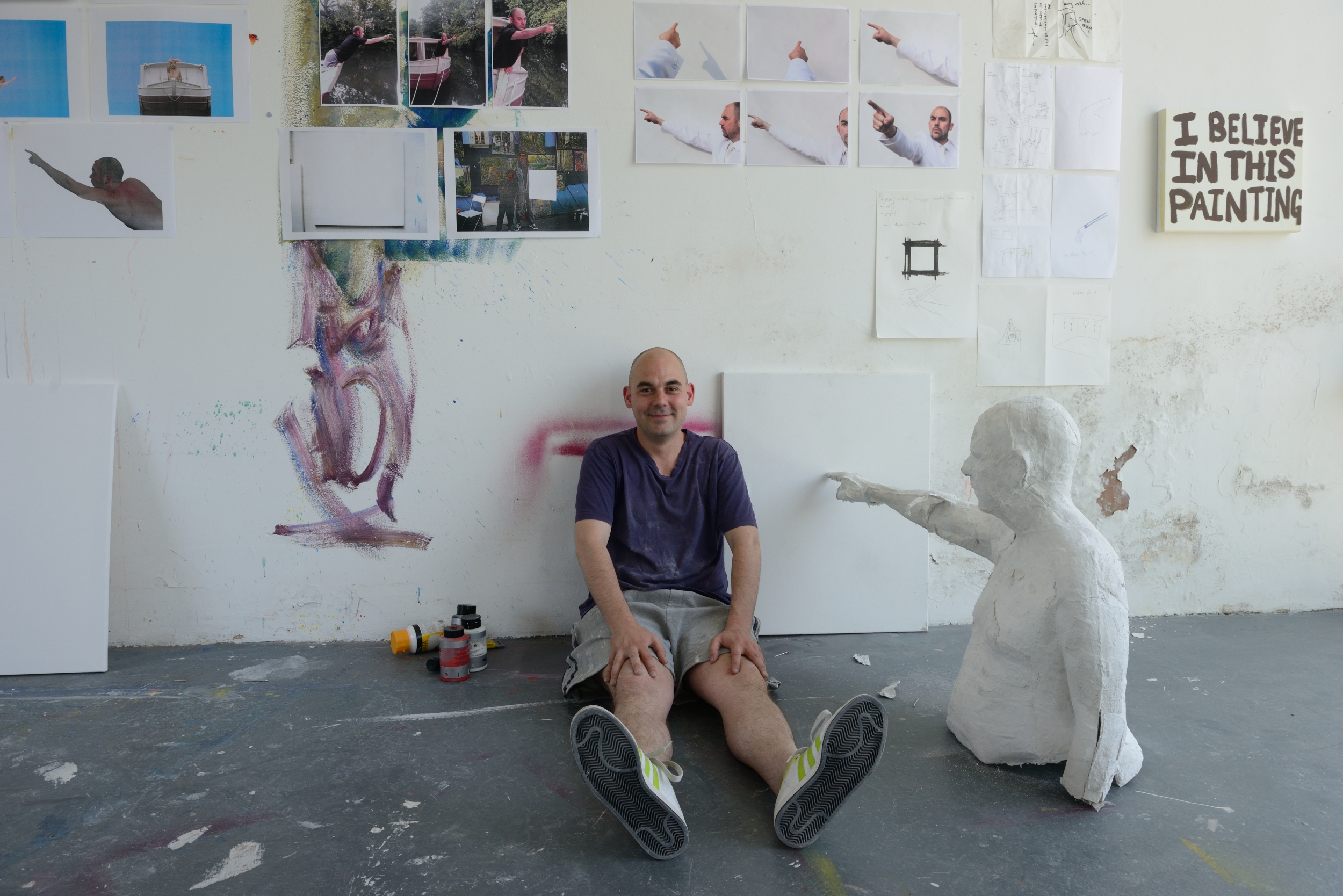 Alexander Costello in the Sculpture Shock Studio, photo by AK Purkiss