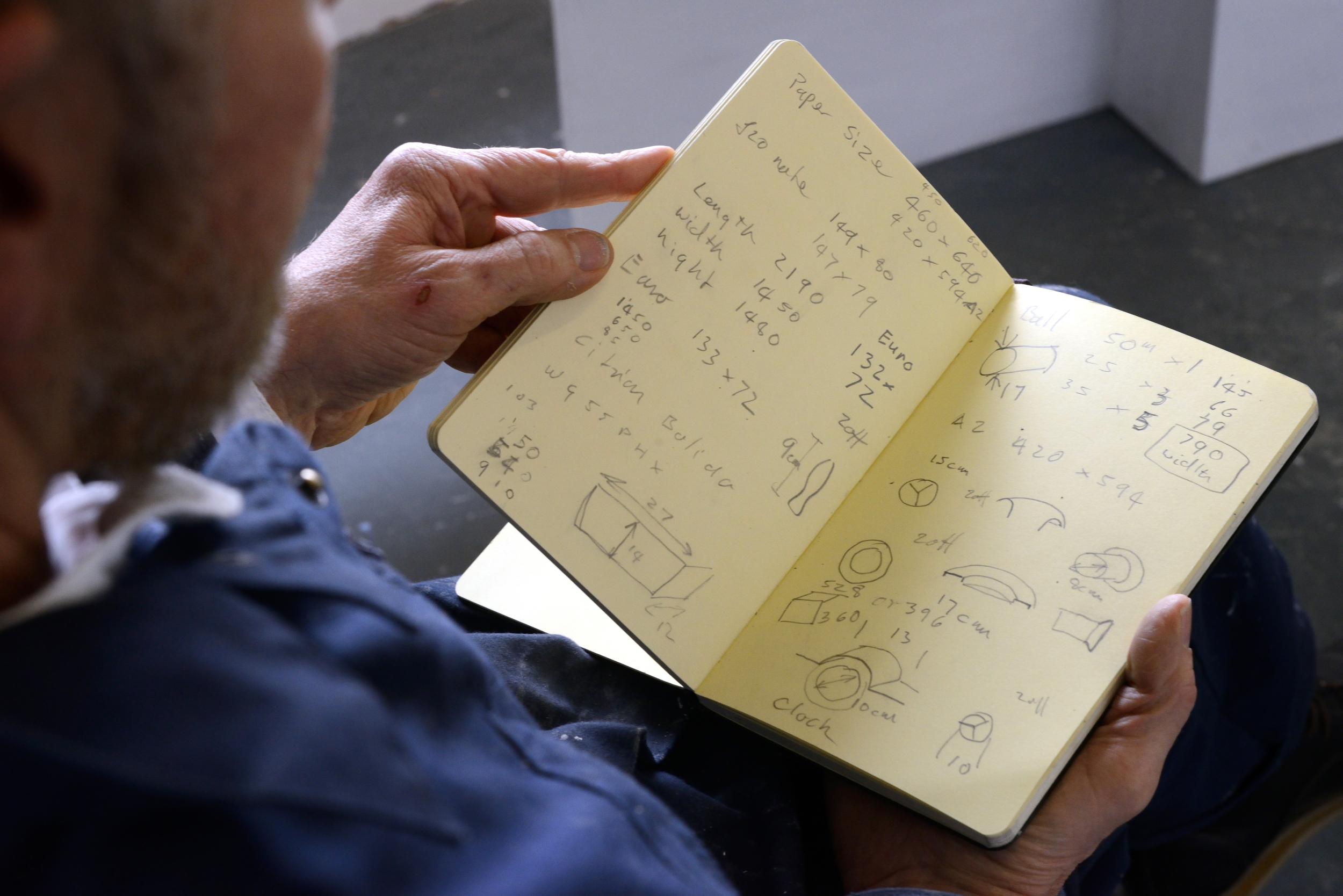 The artist's notebook, photo by AK Purkiss
