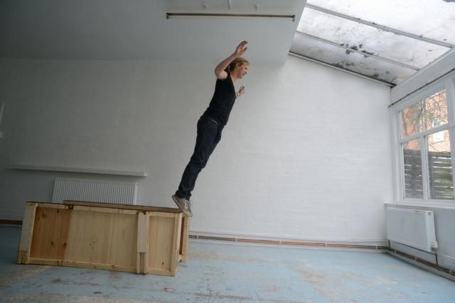 Amy Sharrocks in the Sculpture Shock studio, photo by AK Purkiss