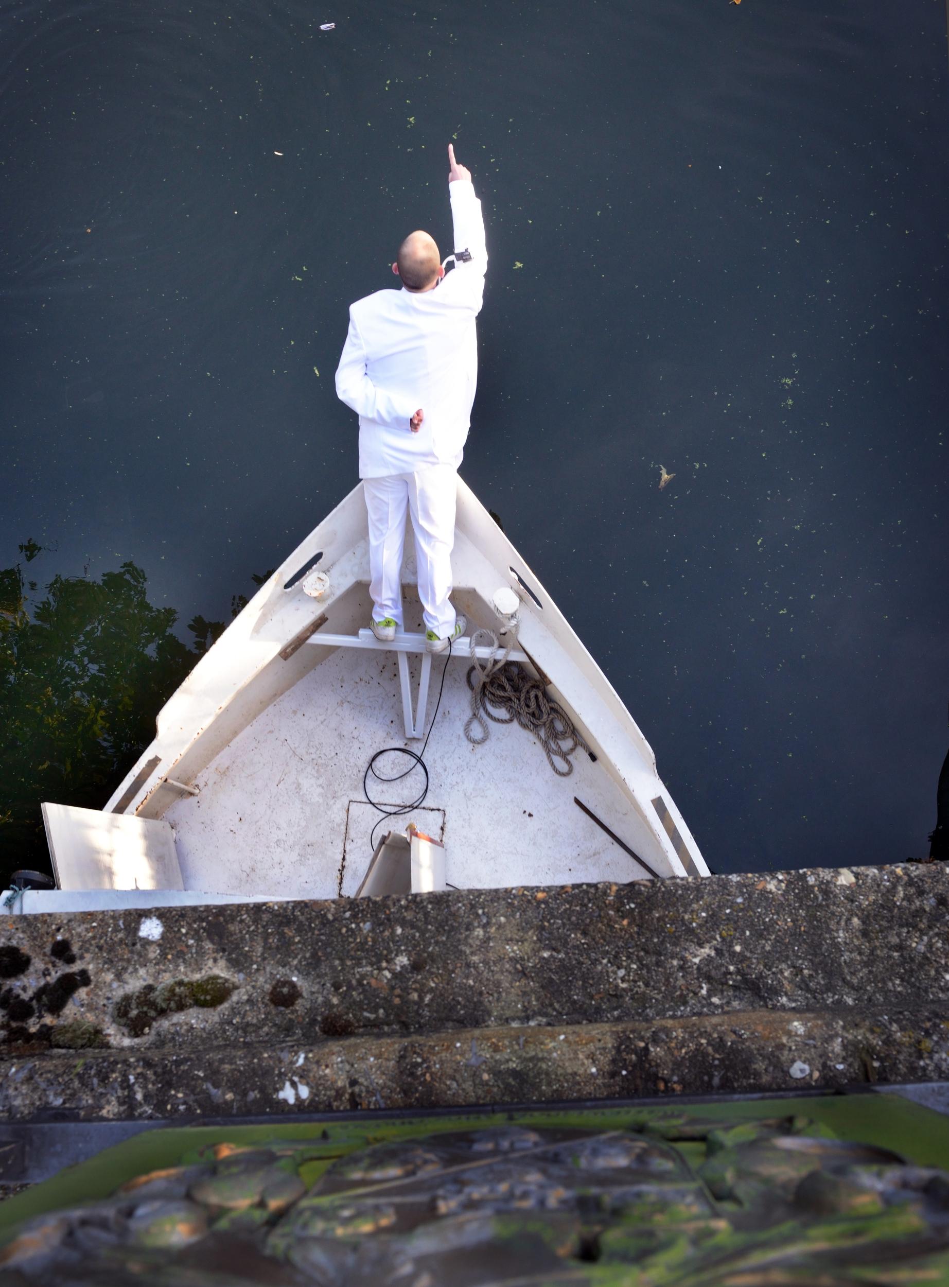Alexander Costello,  Making Progress , performance, 2014, photo by AK Purkiss