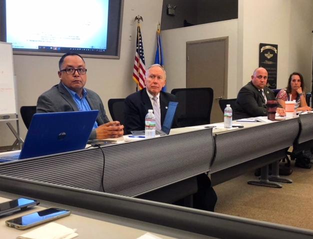 Mashpee Wampanoag Tribe Emergency Management Director, Nelson Andrews Jr alongside Assistant Secretary of the Department of Homeland Security John Hill.