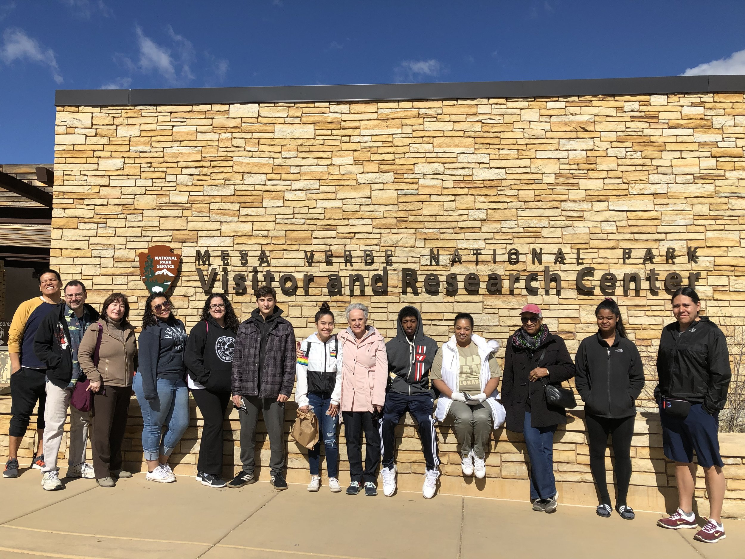 Students at the Mesa Verde National Park in Colorado during the April Vacation college tours.