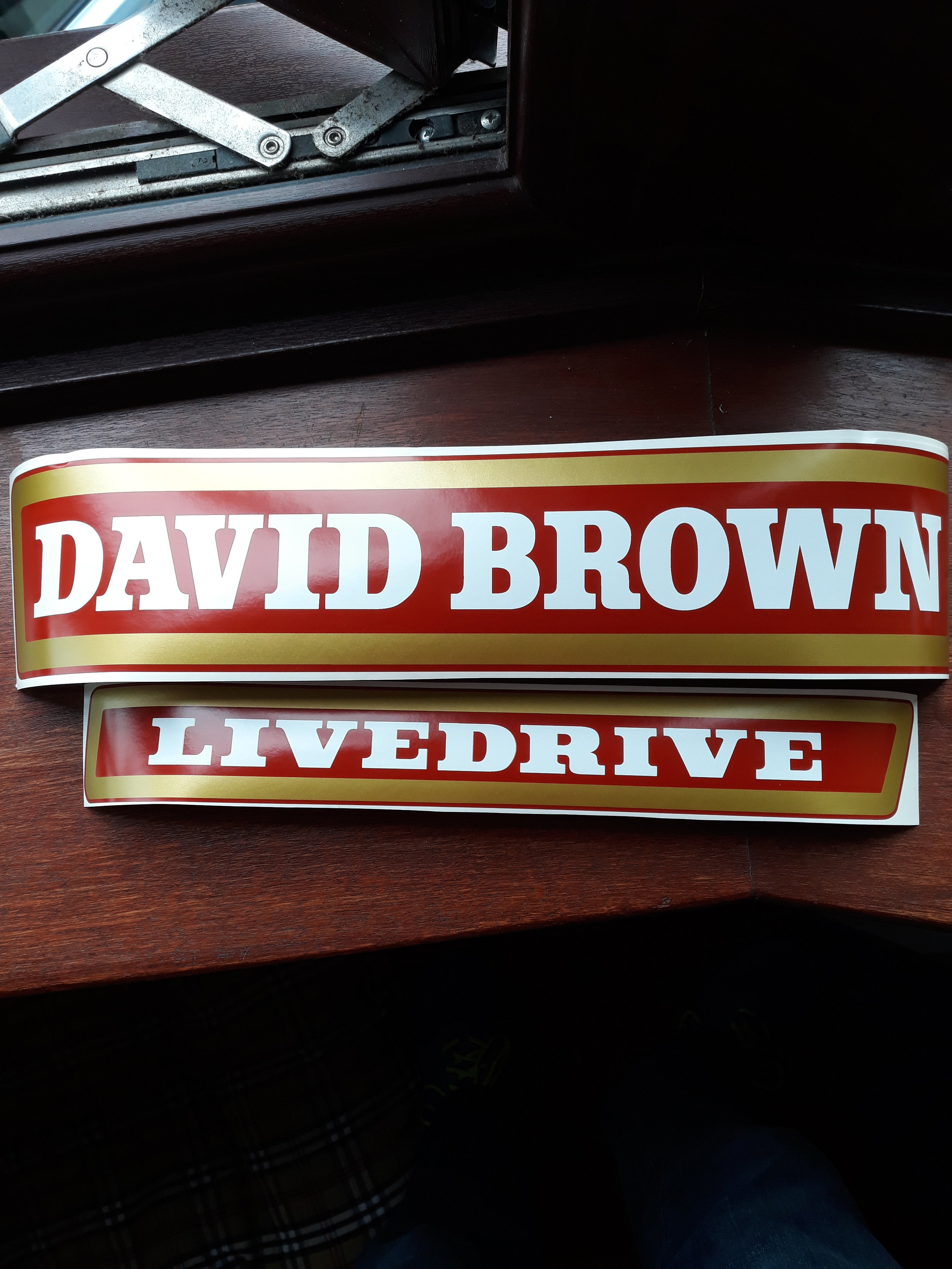 decals David brown 780 selectamatic livedrive tractor  stickers
