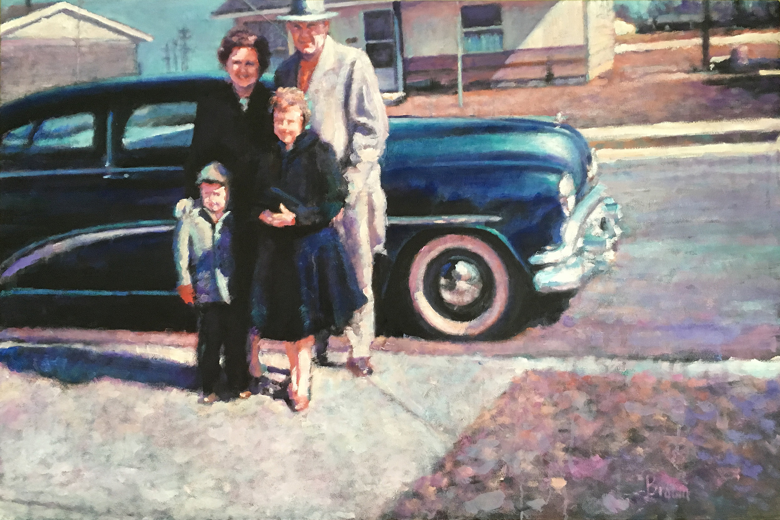"24x36"" vintage family photo commission, 2018"