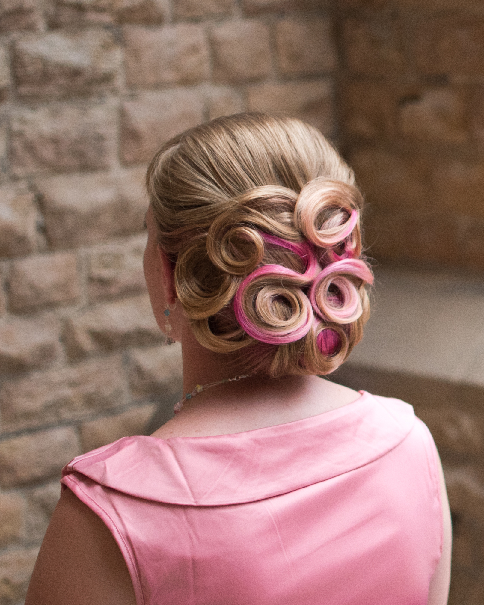 Hair styling by The Little Vintage Beauty Parlour - Photo by Dave Fuller