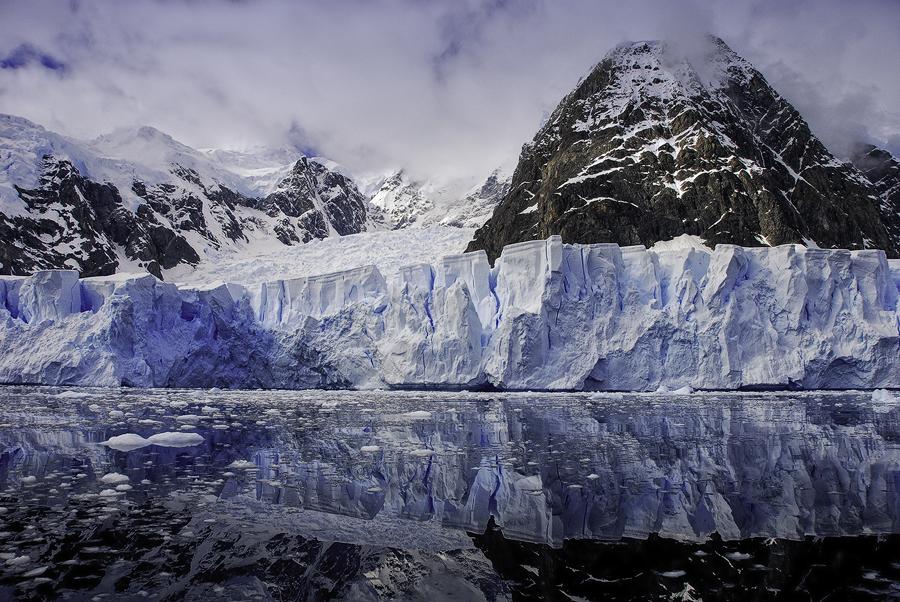 Glacier at Paradise Bay, Antarctica
