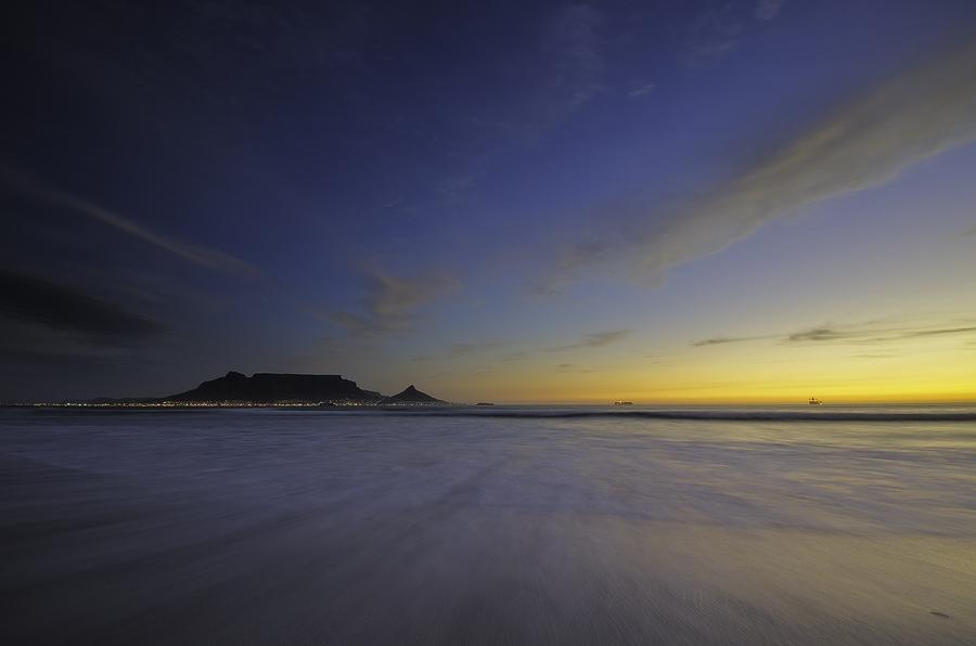 Table Mountain from Dolphin Beach