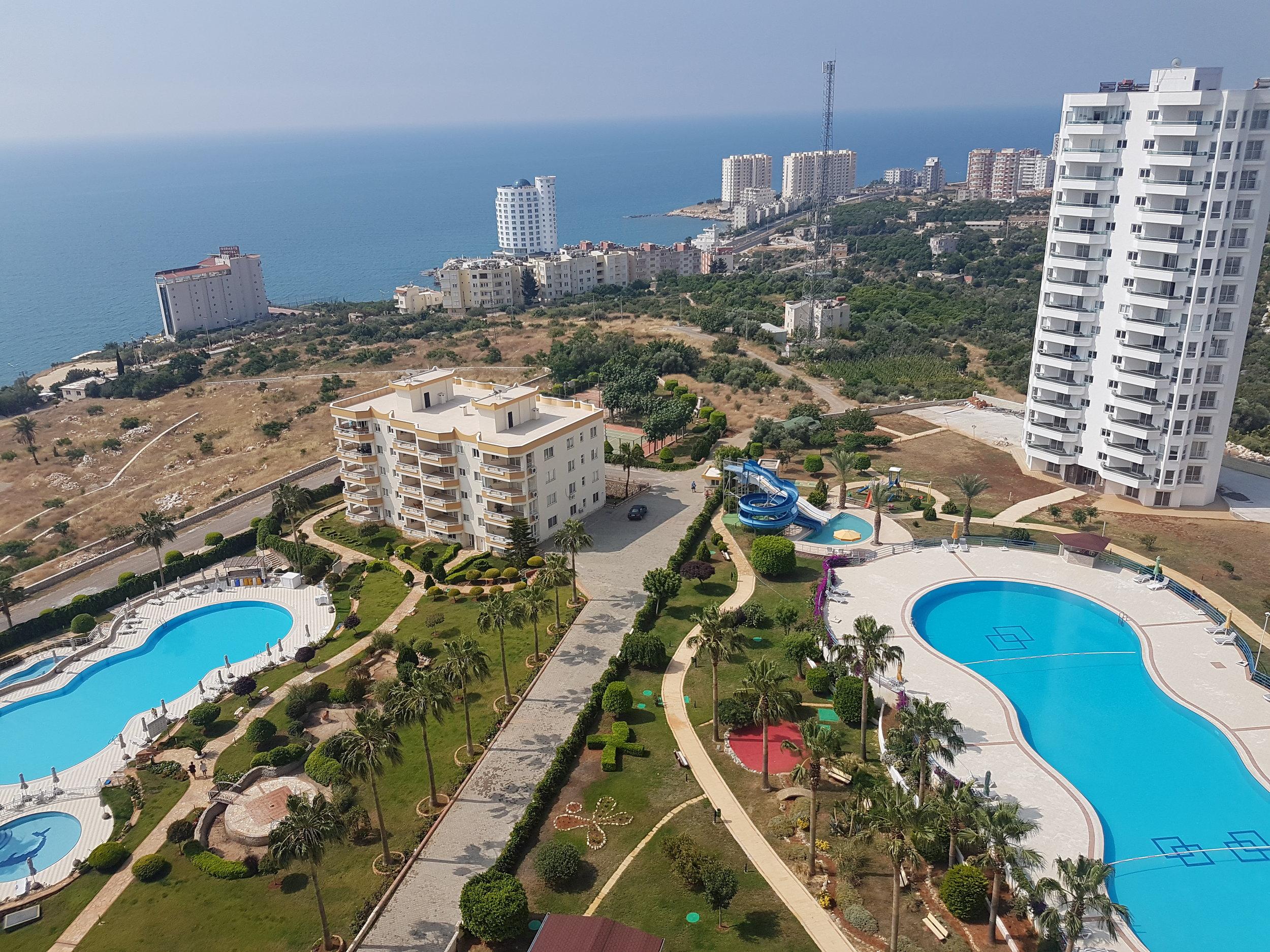Uitzicht vanaf ons huis in Turkije
