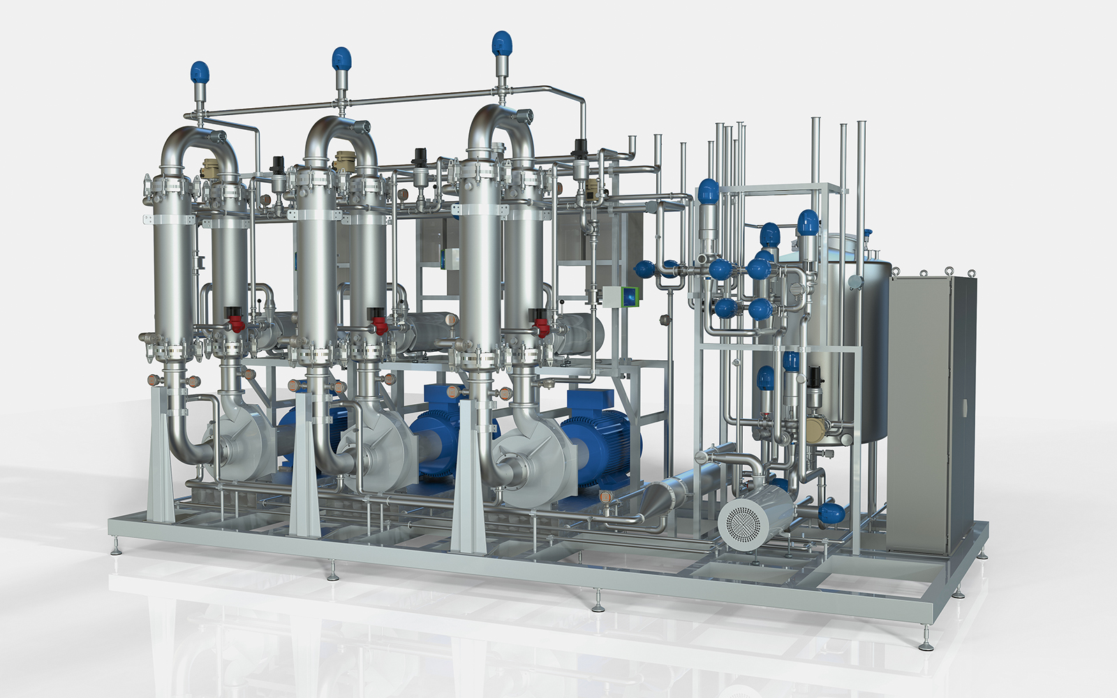 MF/UF ceramic system for fractionating both goat and cow milk proteins before making cheese.