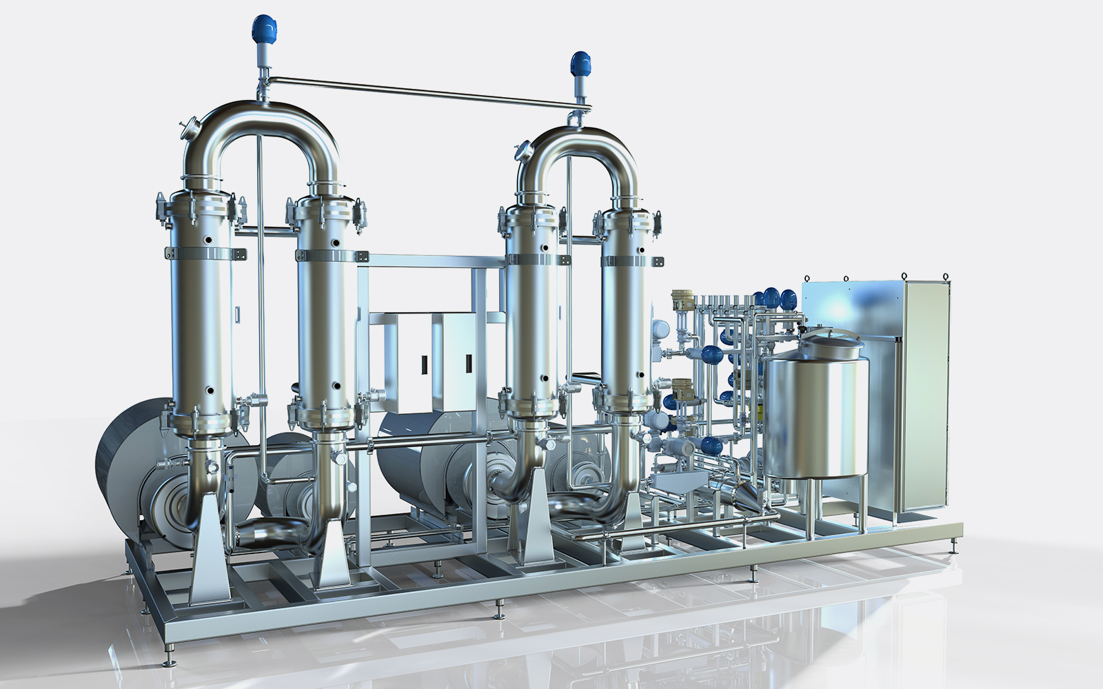 System for filtration of water soluble fish proteins. Two systems UF and NF, with the purpose of making pure fish proteins from hydrolysis of fish. First step is to use ceramic membranes to remove suspended solids and oil. Second step concentrates the proteins up to 30 %.