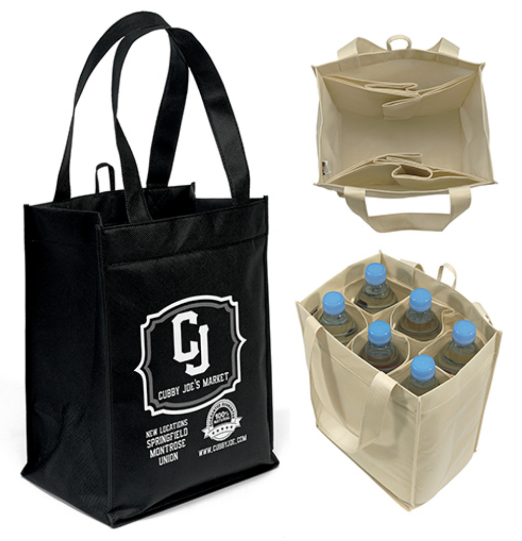 Tote bags of all sizes, designs, & materials.