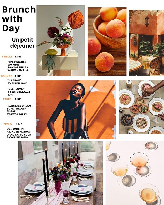 This brunch mood brought to you by the color orange, and unlimited Rosé!  I'm creating an oasis next Sunday complete with a plethora of fresh fruit and flowers, 24k Gold in your wine glasses, Egyptian cotton napkins, a live performance and an all you can eat 6 course family style meal of the most delectable and decadent dishes.  I'd be elated if you'd be my guest!  Click the link in my bio to book your reservations!  #BrunchWithDay #EatWellComeOften