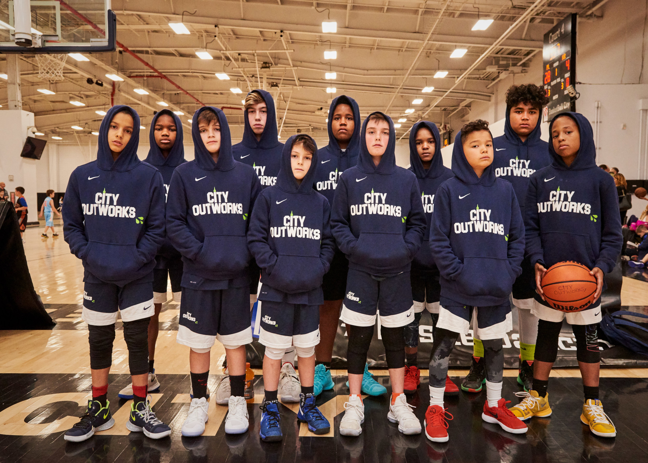 City Outowrks first ever AAU team was formed in the fall of 2017. [Photo Credit: kenmoorephoto.com]