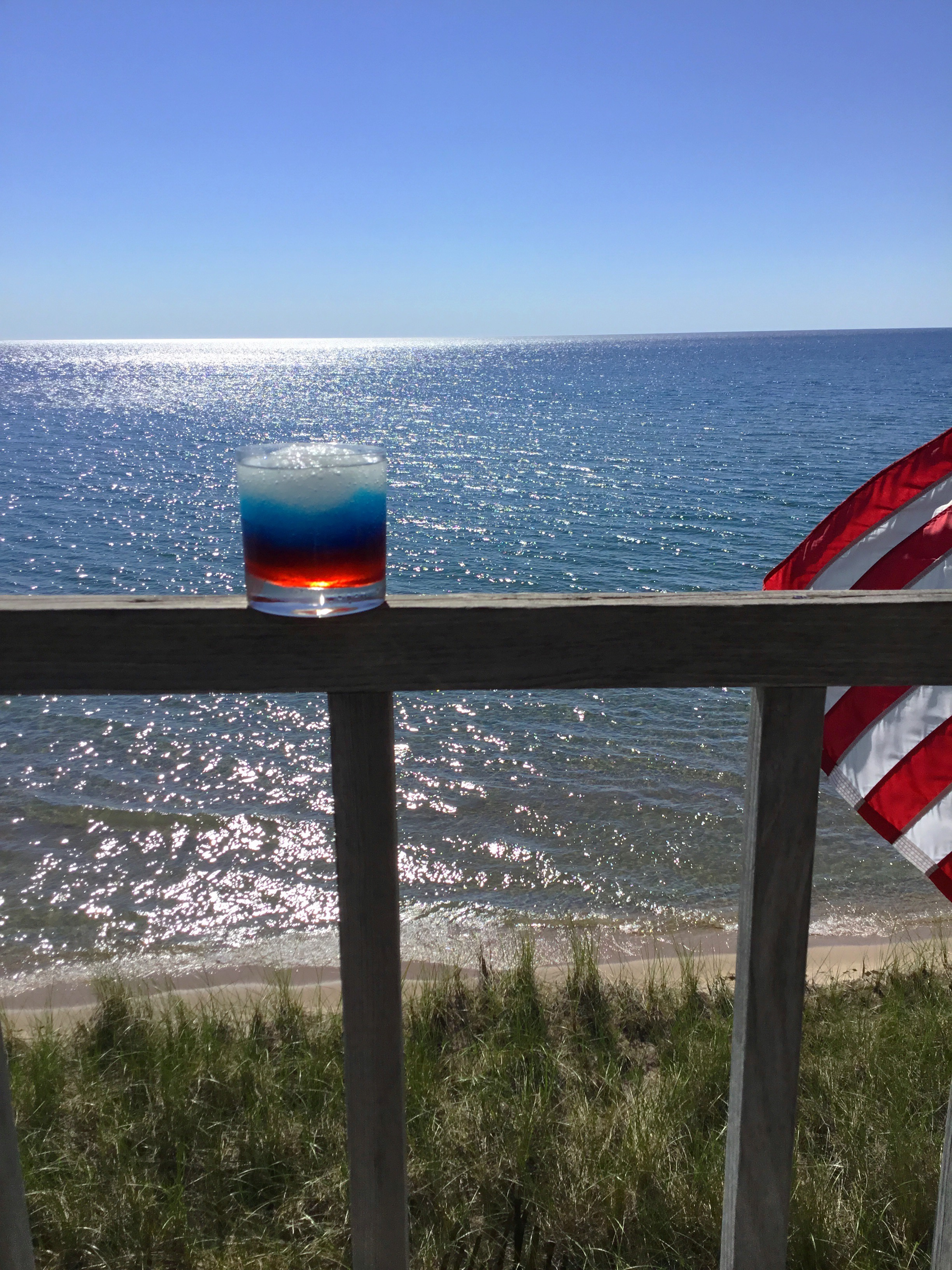 Cousin Carolyn makes fabulous 4th of July cocktails