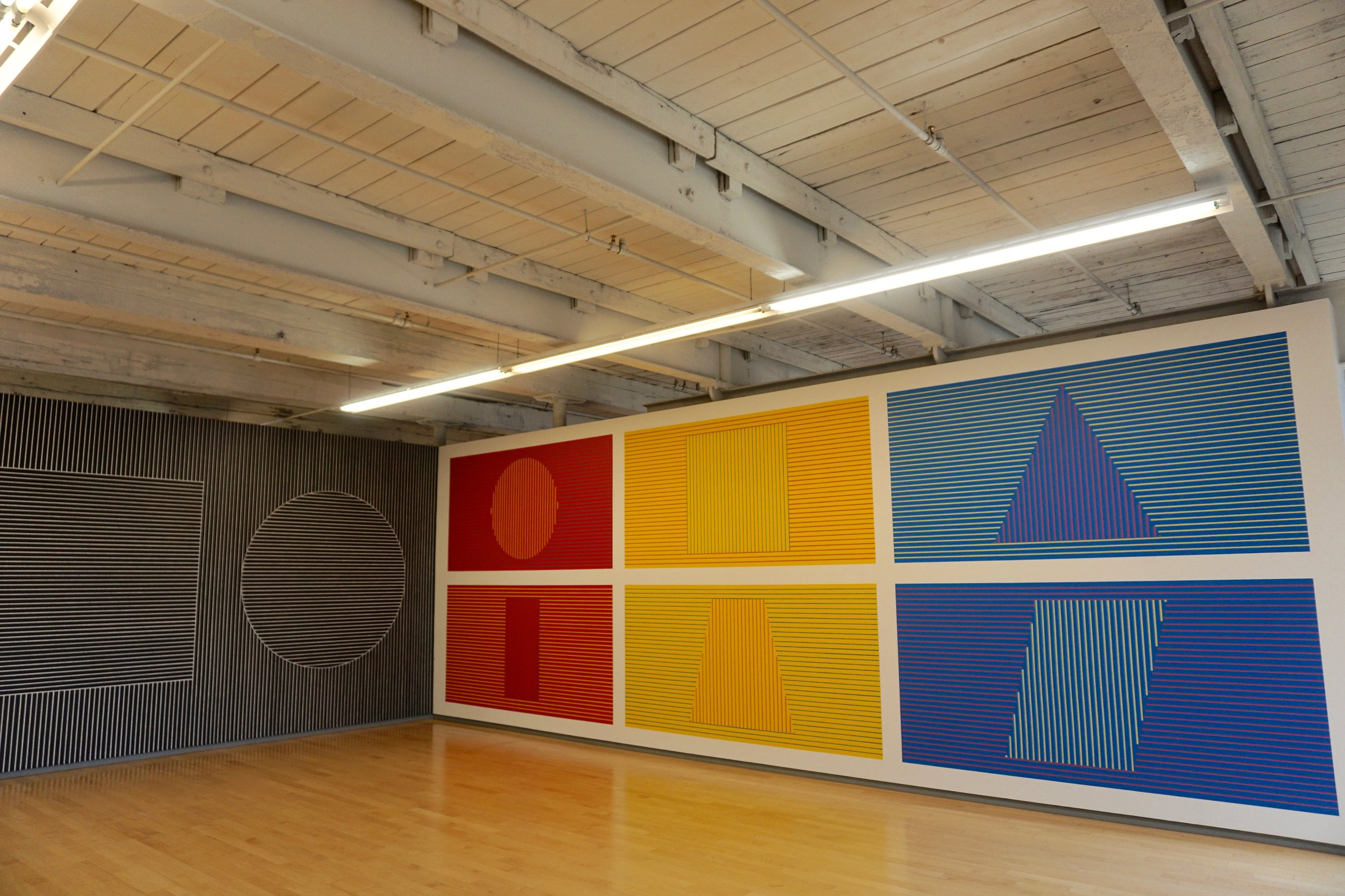 Especially taking jumping photos in front of the Sol  LeWitt permanent collection.