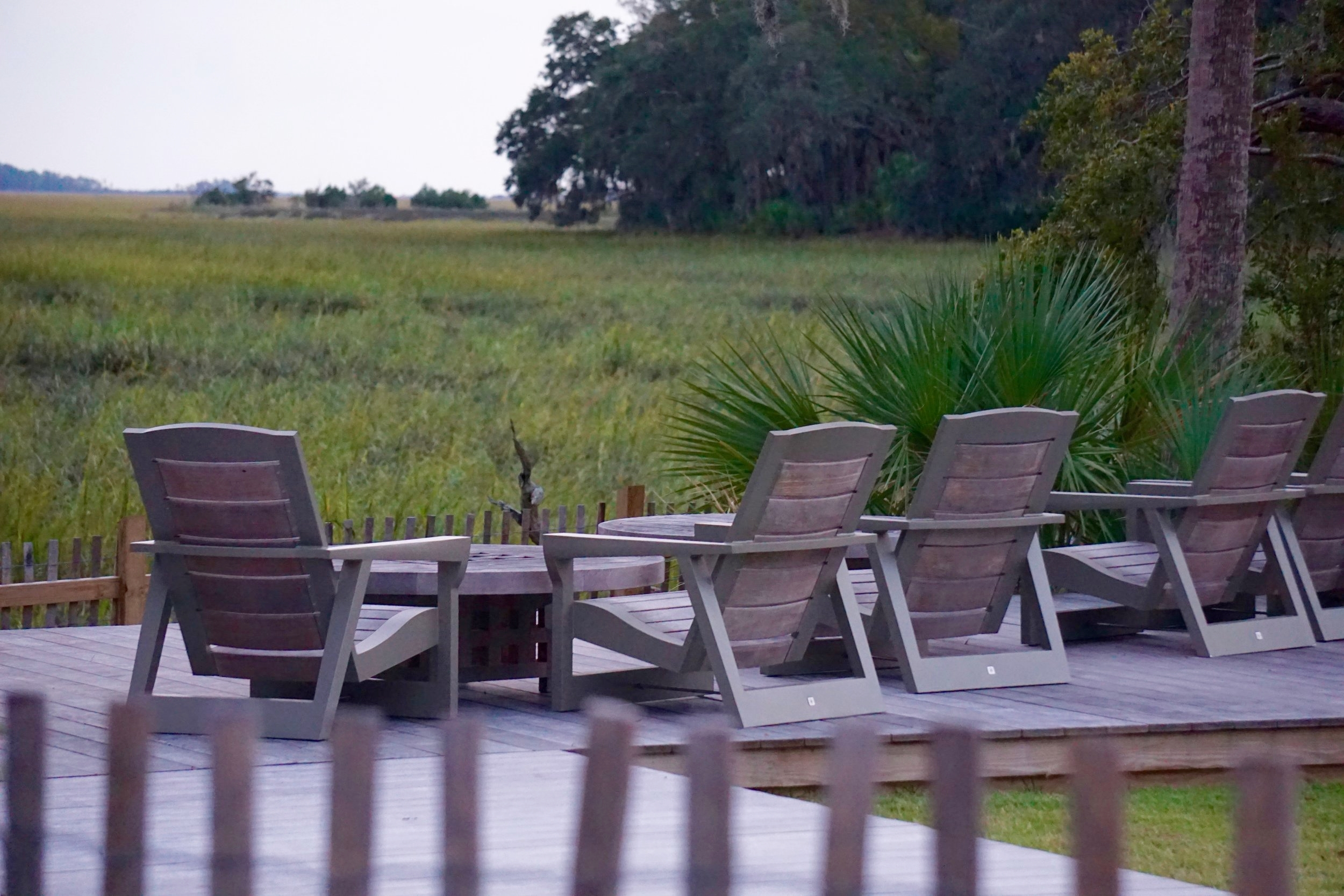 Perfect sunset seating over looking the marsh