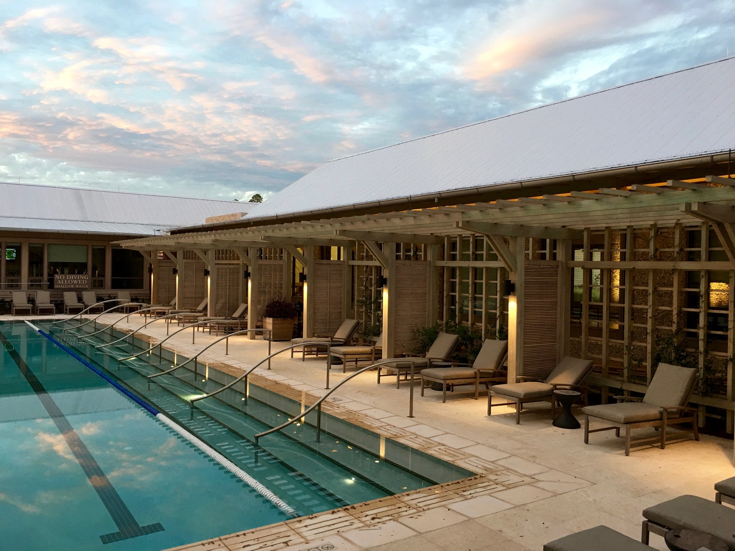 Love the serenity by the Moreland lap pool