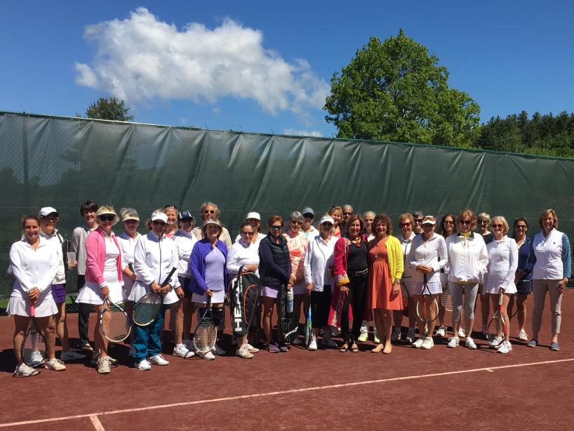 Women at the Dorset Field Club tennis fundraiser
