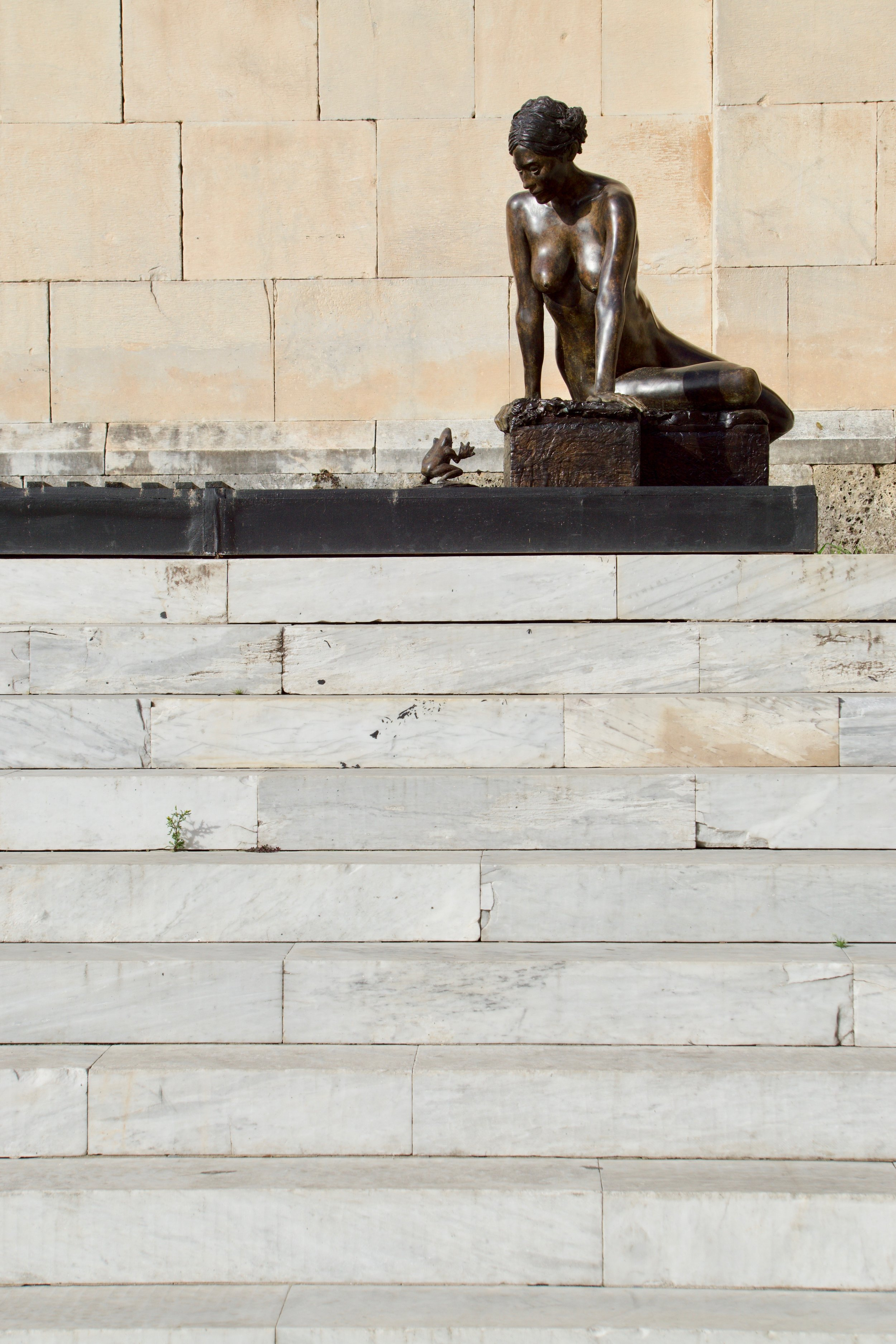 Sitting atop the marble steps leading into the sculpture museum church is this beauty.