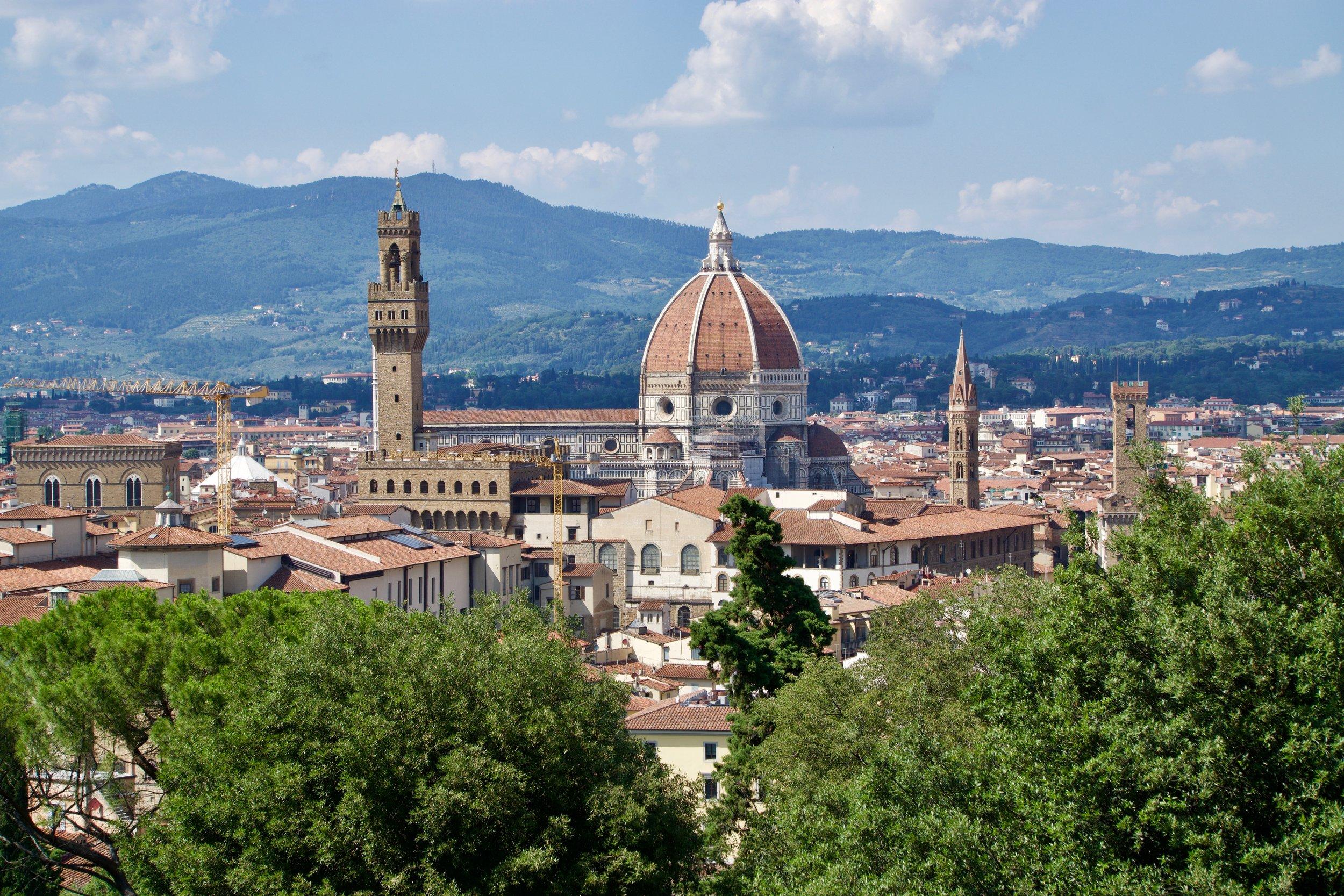 A view from the Giardino Bardini gardens