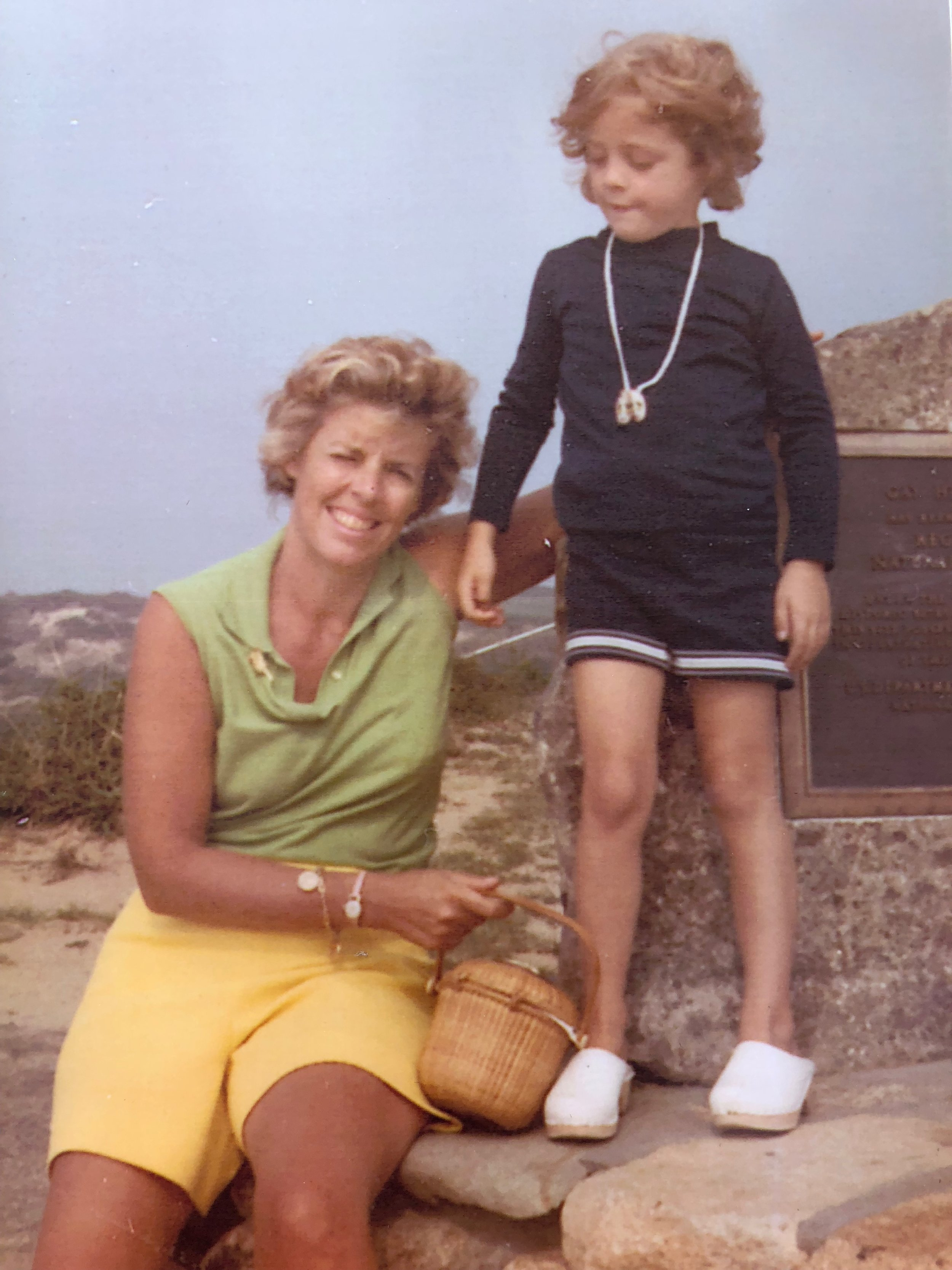 My mother and me in Martha's Vineyard @ 1969. Somewhere are teenagers who ditched us.