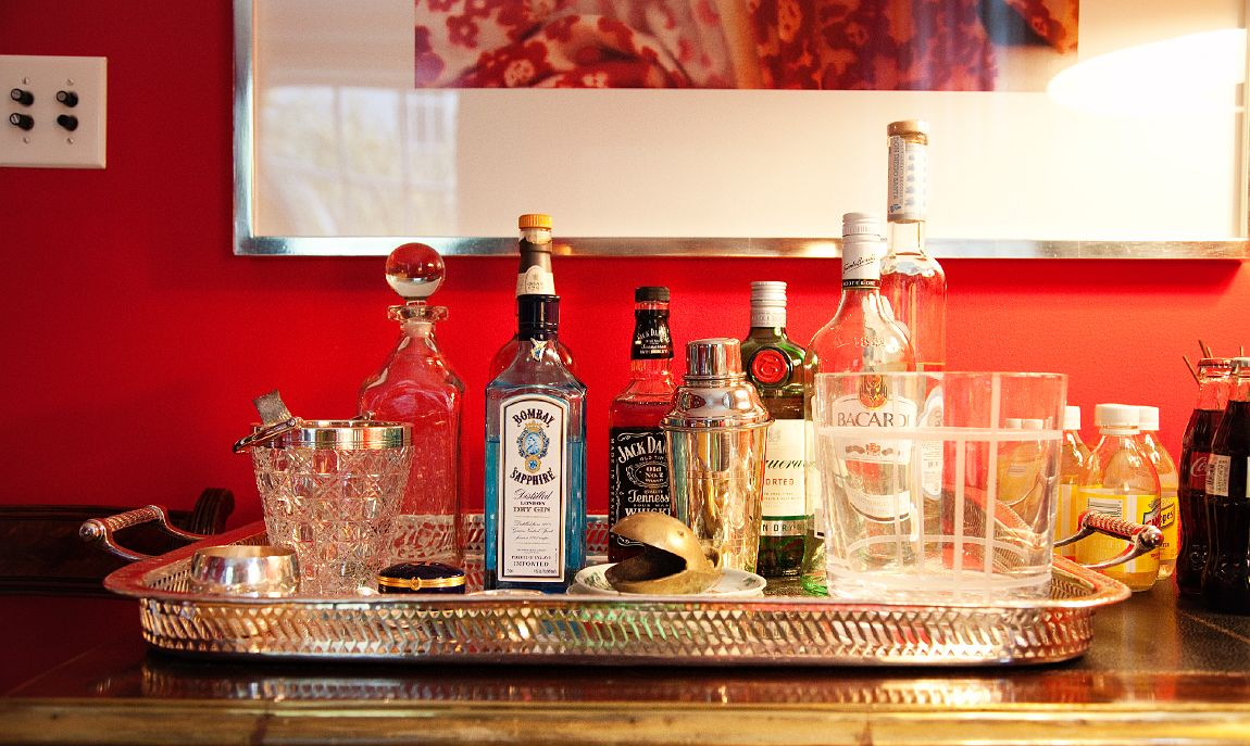 LOVE a great bar tray!! photo by the Selby