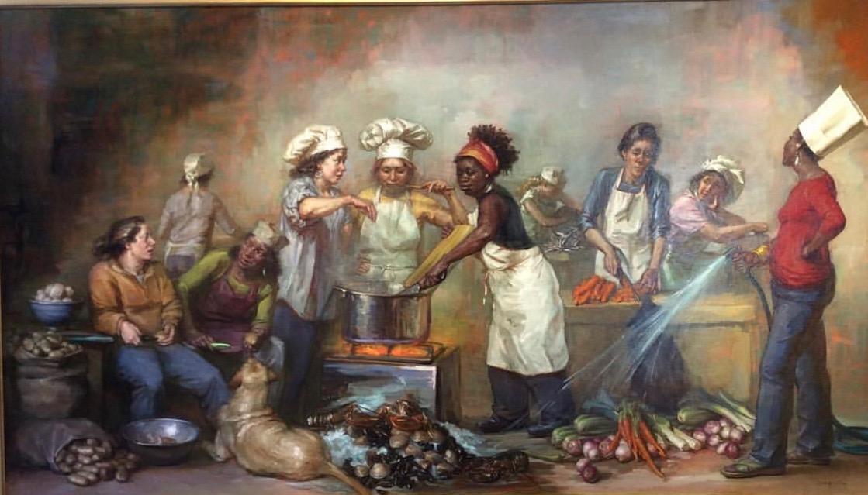 The Feast of Venus , painting by Elizabeth Torak.