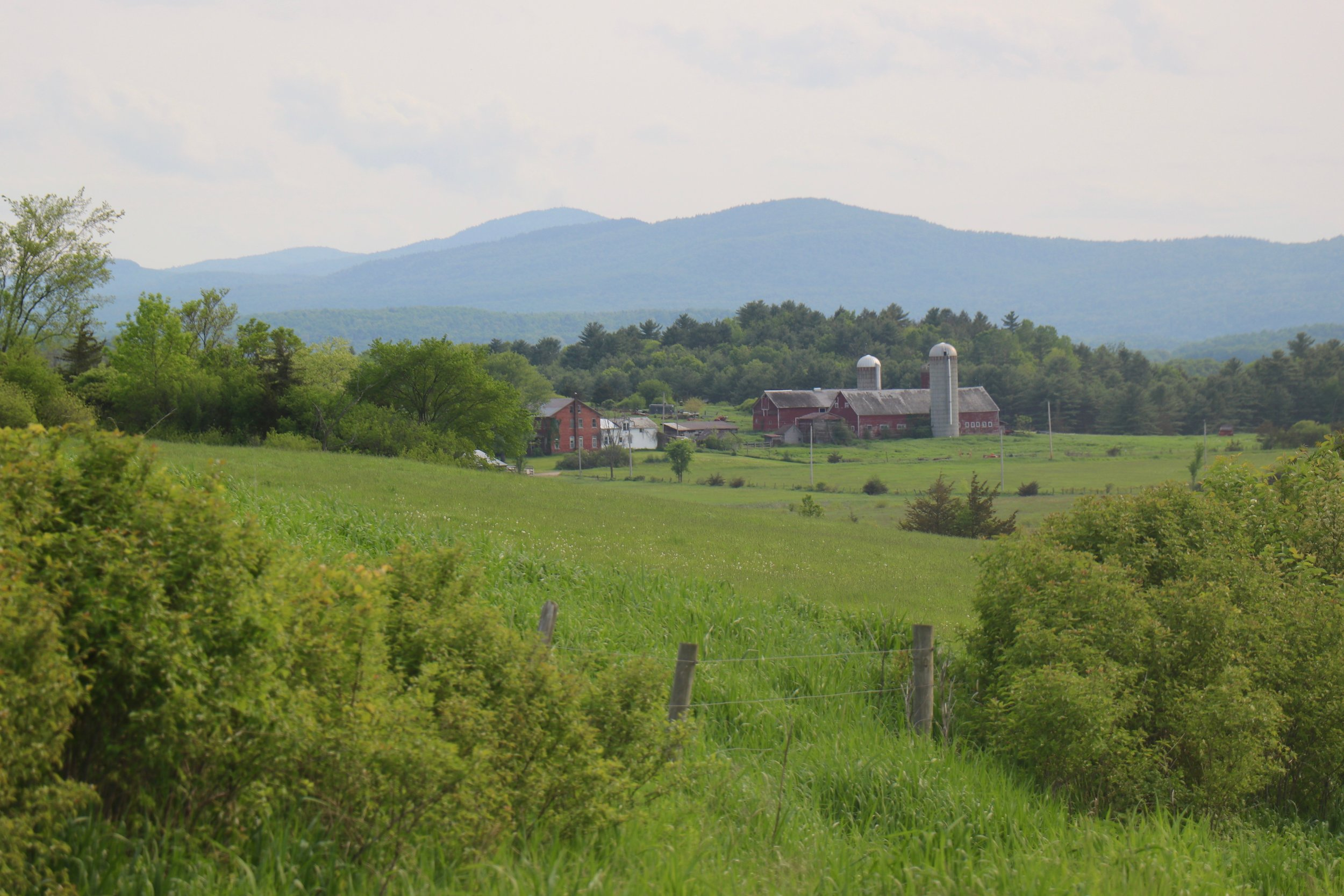 Somewhere between southern and northern Vermont.