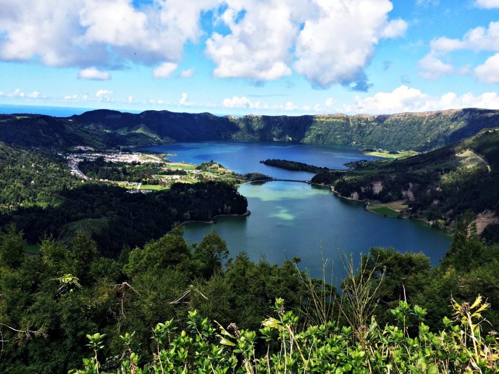 View overlooking Caldeira das Sete Cidades lakes