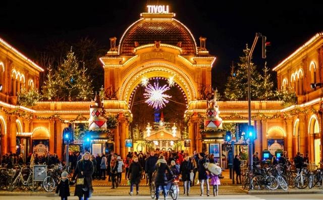 Christmas market at Tivoli Gardens in Copenhagen