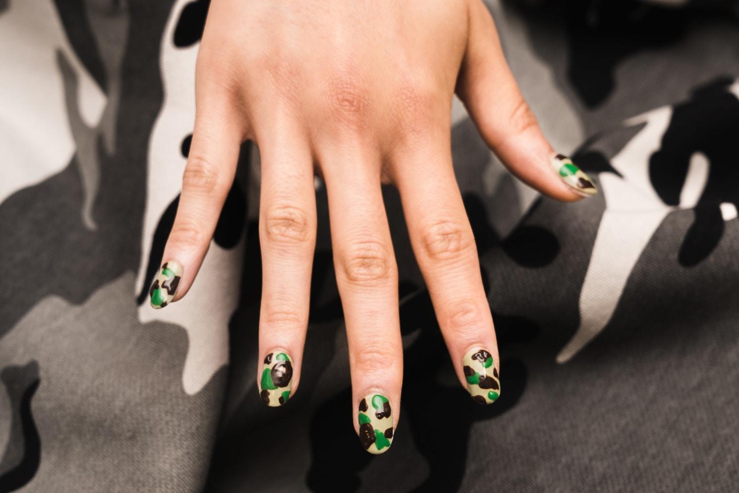 BAPE Inspired Nails