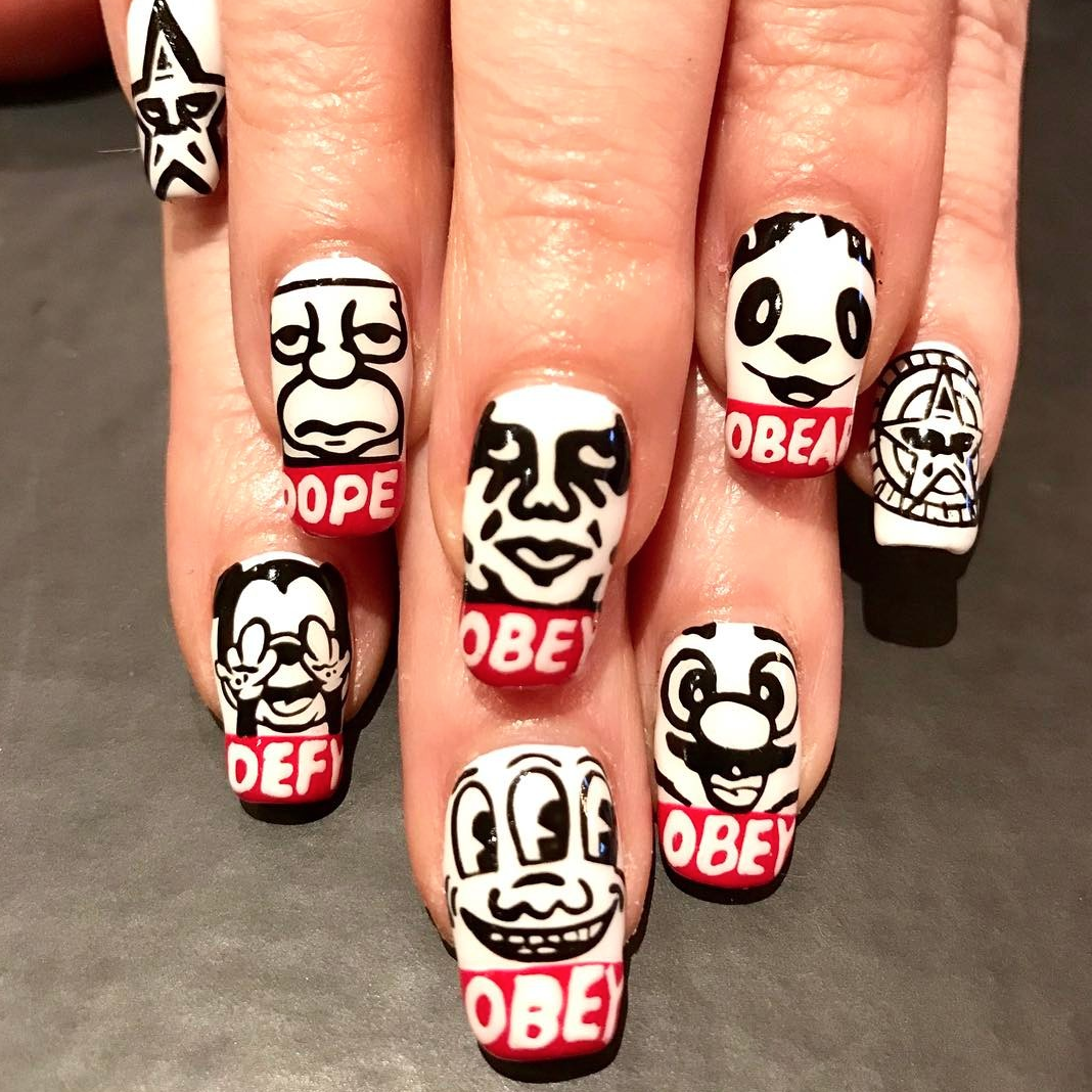 OBEY Inspired Nails