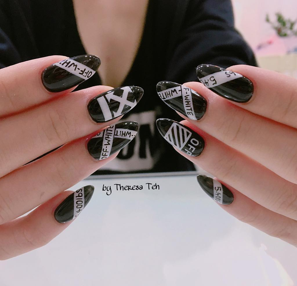 OFF-WHITE Inspired Nails