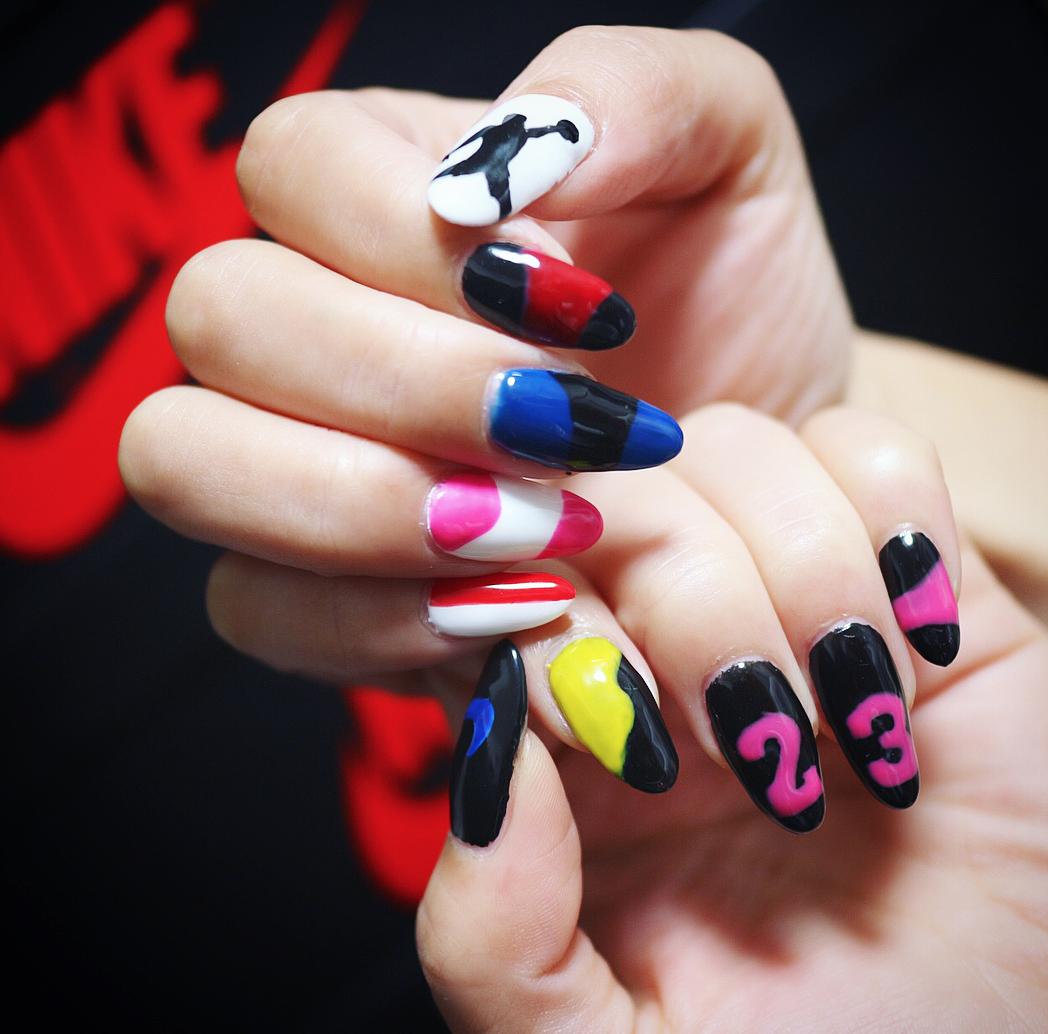 AIR JORDAN Inspired Nails