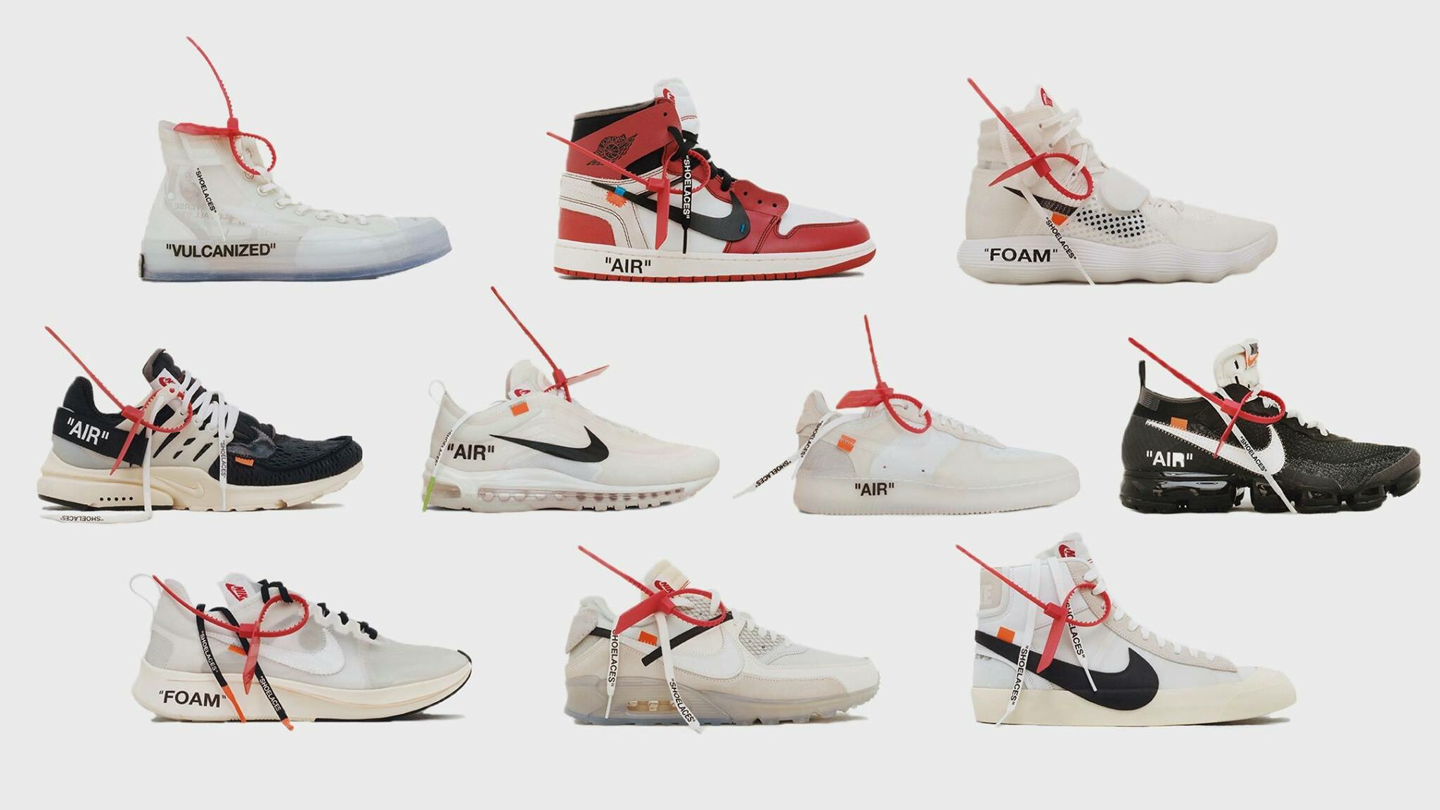 """VIRGIL X NIKE """"THE 10"""" COLLECTION"""