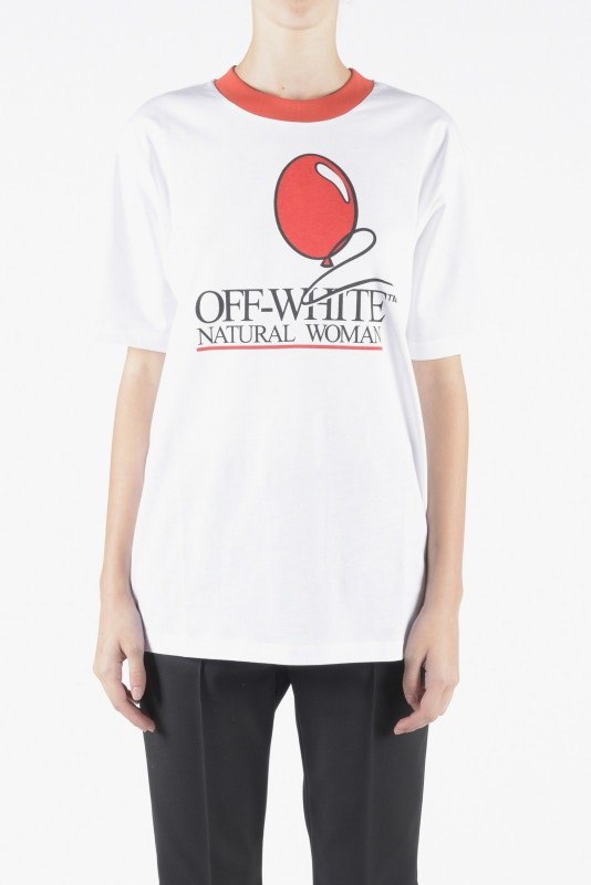 OFF-WHITE COMMORATIVE TEE FOR PRINCESS DIANA & RED CROSS