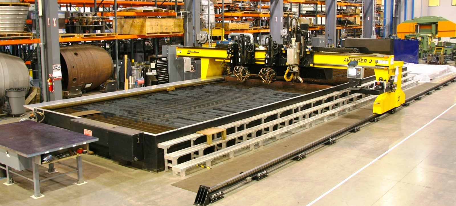 "Material Processing - ESAB Avenger 3-7 Burn Table   700"" X, 200"" Y1, 200"" Y2, 200"" Y3"