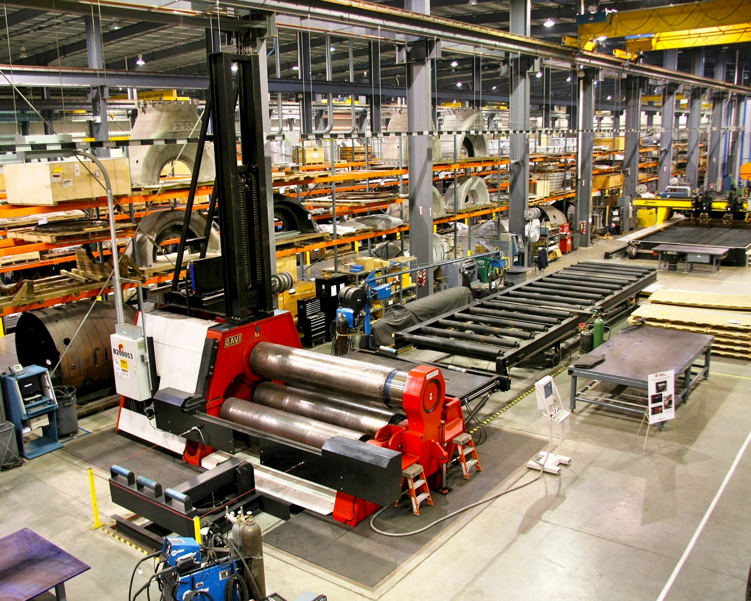 """Material Processing - DAVI Plate Rolling   3.5"""" thick x 10' wide"""