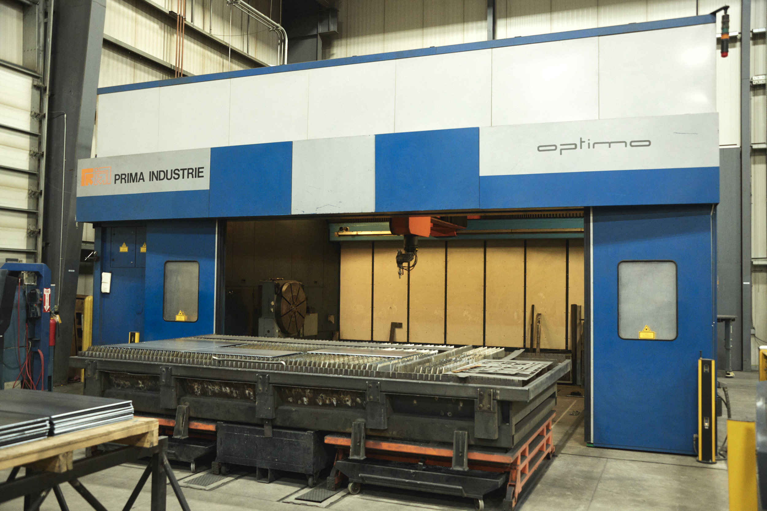 "Prima Industries Optimo 5 kW 5 Axis Laser   177"" X, 98"" Y, 40"" Z, Integrated Rotary Table"