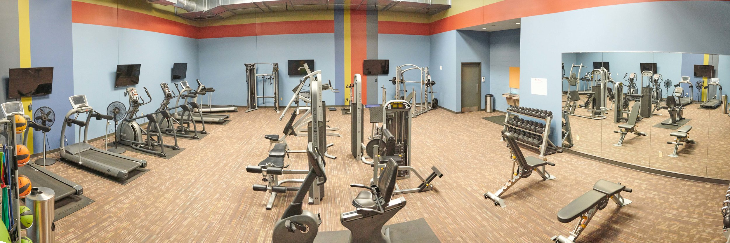 On Site Workout Center with Locker Rooms