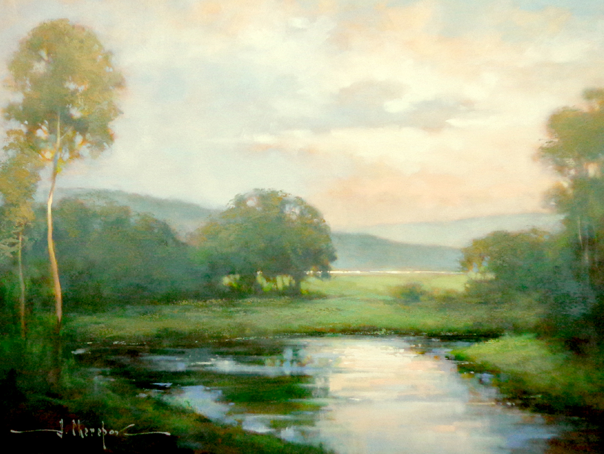 Sunset on the River 30x40