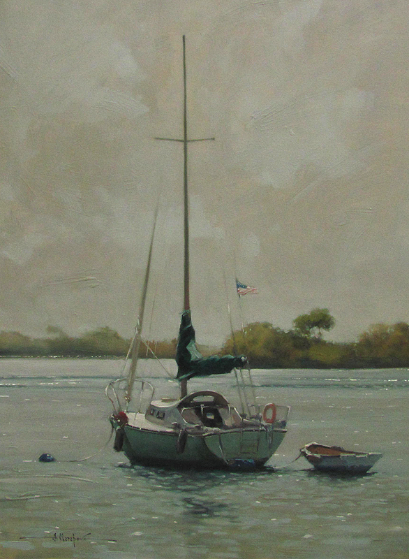 Sailboat at the Seashore 30x40