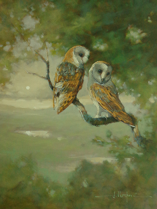 The Two Barn Owls 30x40