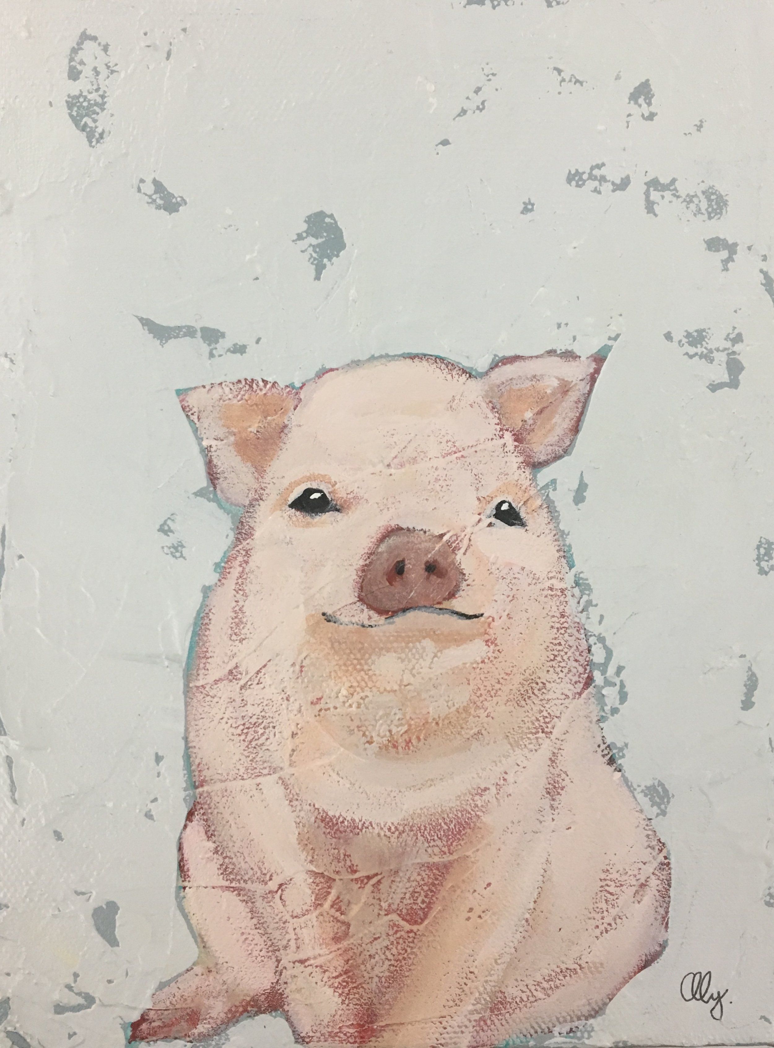 """Some Pig"" 6x8"