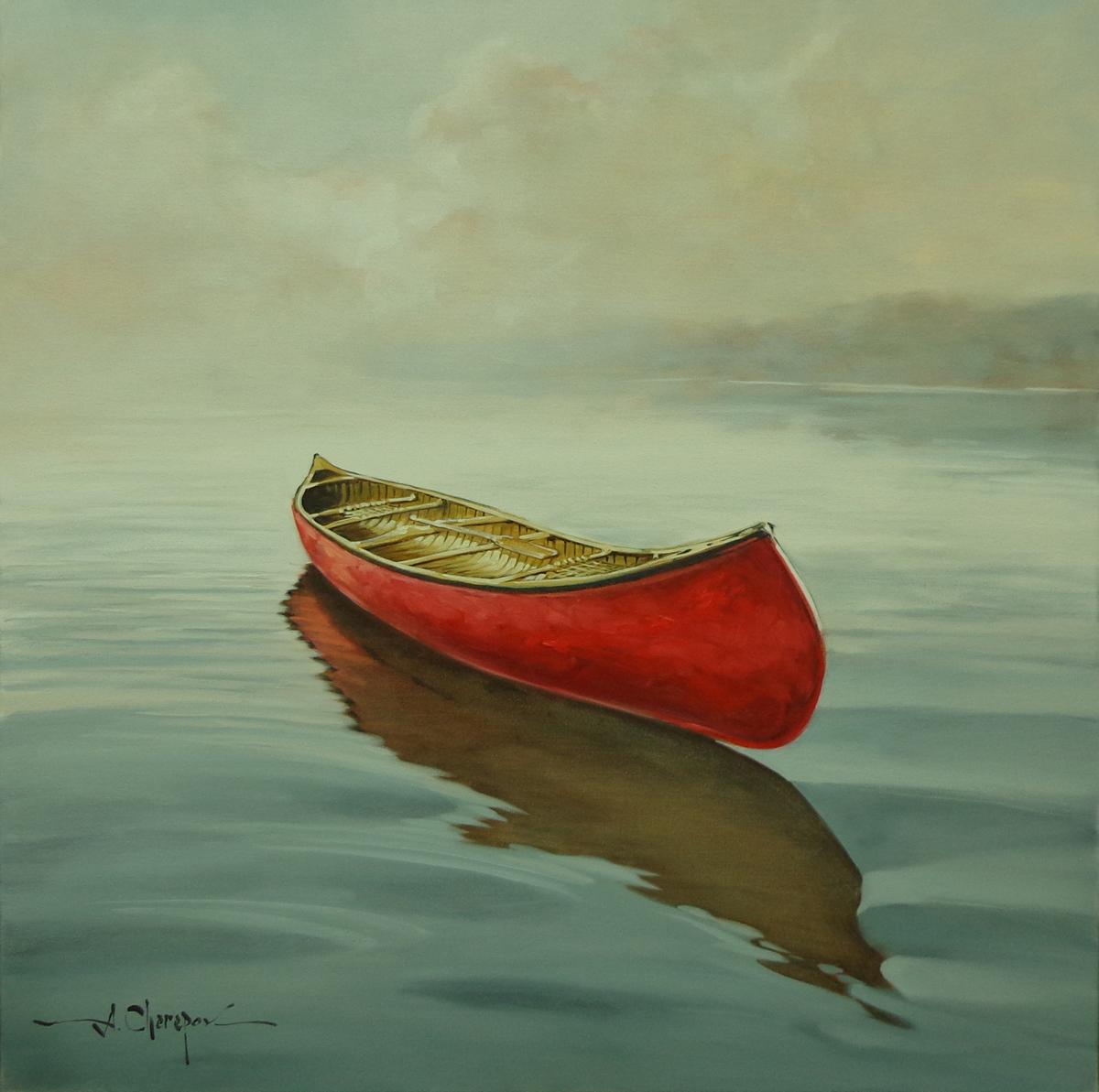 Red Canoe 40x40
