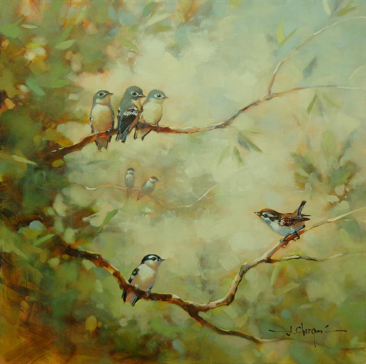 Seven Birds Chat 30x30