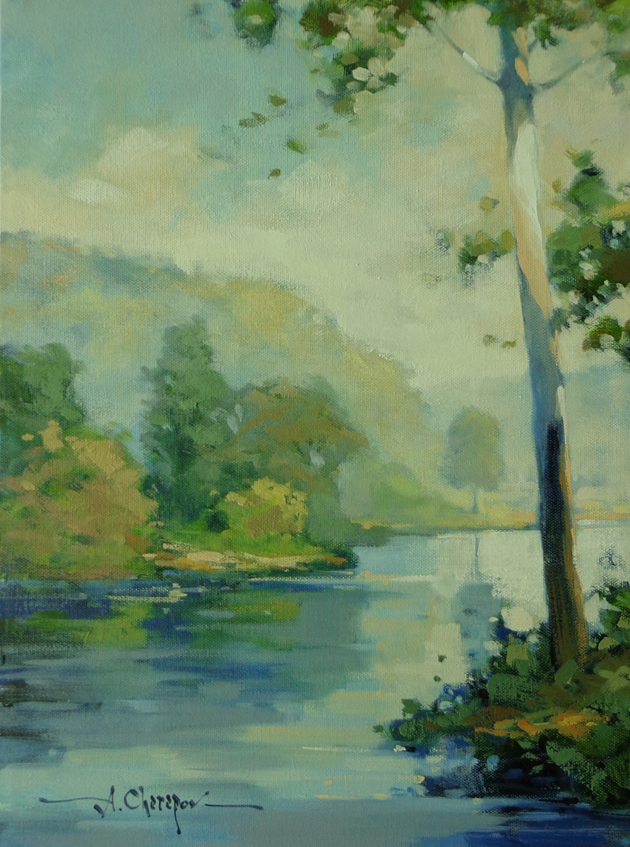 Blue River Left Bank|12x16