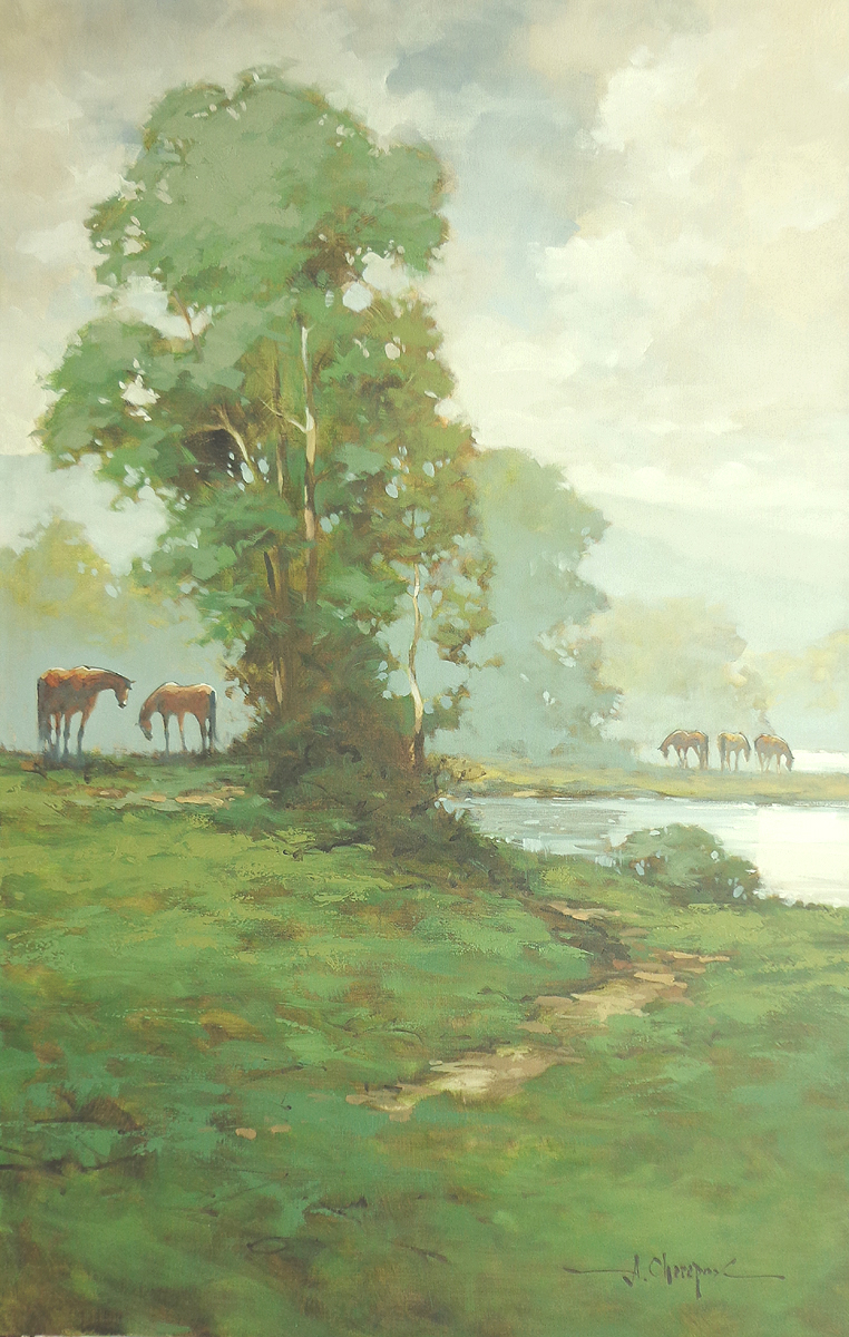 Horses on the River|30x48