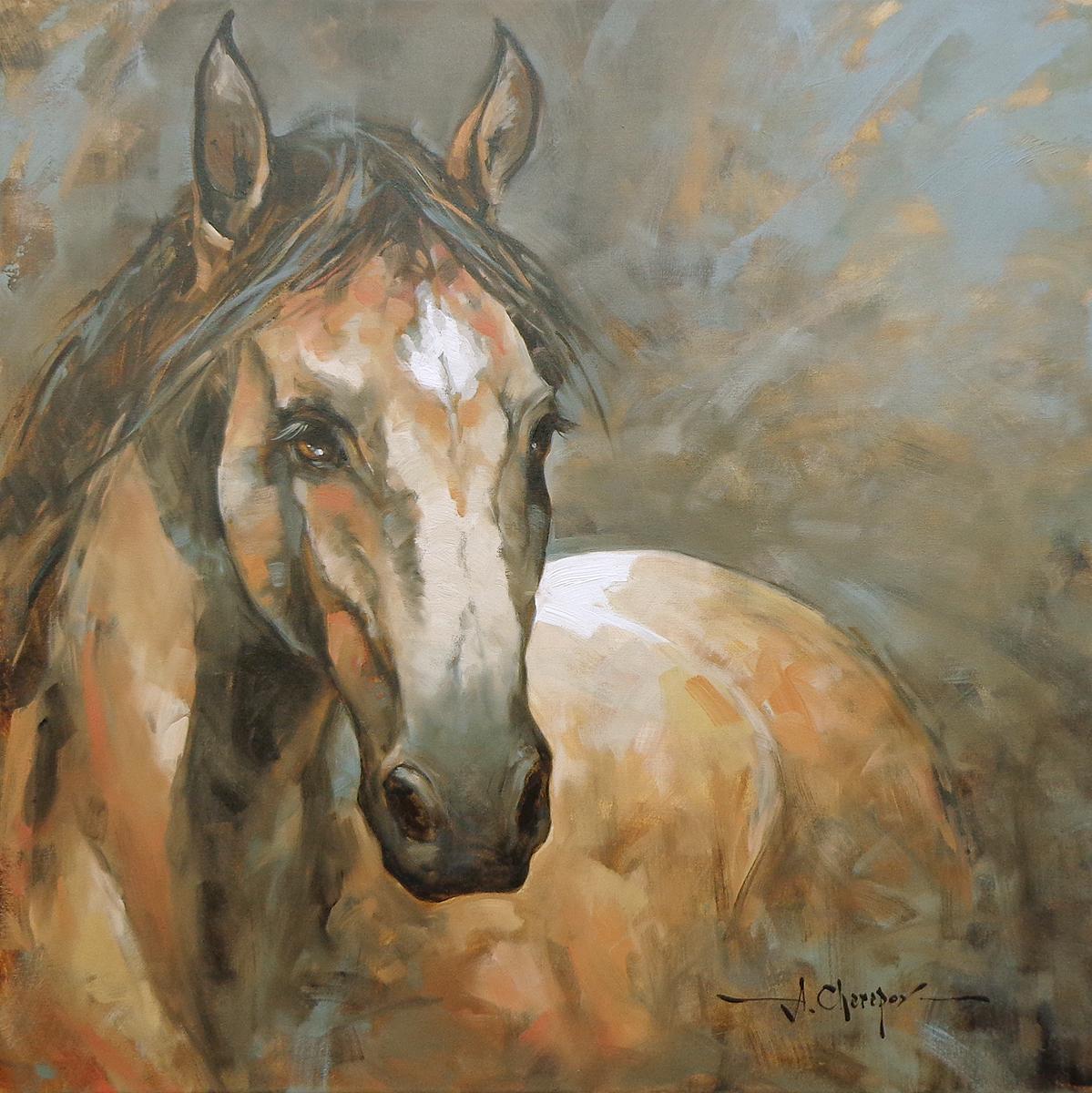 Horse Head Study 30x30