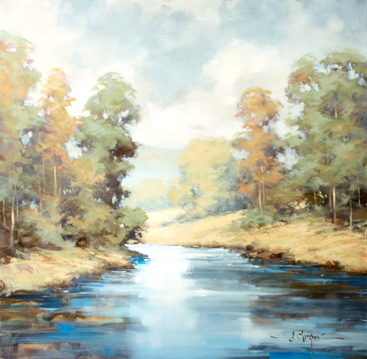 Azure River IV 30x30
